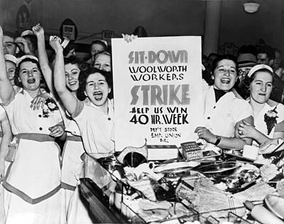 Woolworth Workers Strike Art Print