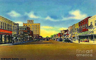 Painting - Woolworth's In Clovis N M 1940 by Dwight Goss