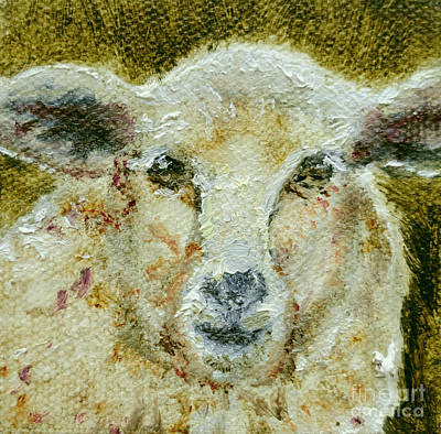 Wooly Sheep Original by Cindy Roesinger