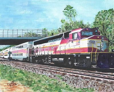 Boston Ma Painting - Worcester Bound T Train by Cliff Wilson