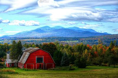Photograph - Worcester Range And Barn by John Nielsen