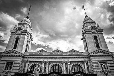 Union Station Photograph - Worcester Union Station by Diane Diederich
