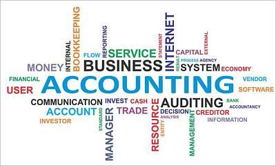 Accountancy Wall Art - Photograph - Word Cloud - Accounting by Amir Zukanovic
