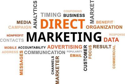 Accountability Digital Art - Word Cloud - Direct Marketing by Amir Zukanovic