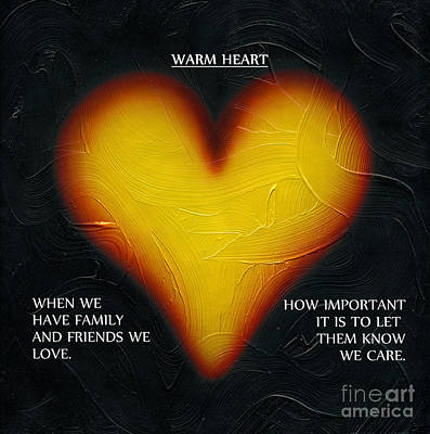 Mixed Media - Word Heart by Kenneth Clarke