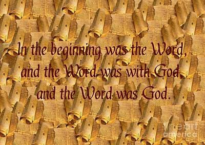 Devotional Digital Art - Word Of God by John Malone