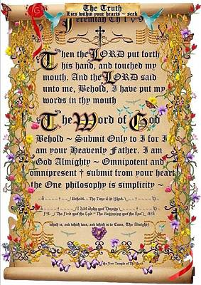 Word Of God Art Print by Stephen Kovacs