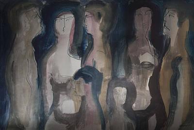 Wordless People Art Print by Horst Braun