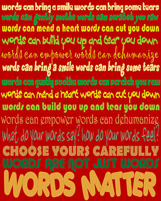 Digital Art - Words Matter by Pharris Art