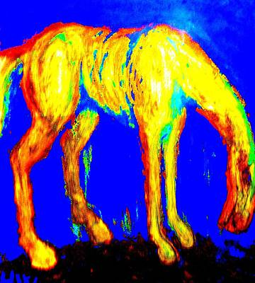 Abstract Male Faces - You Can Work Like A Horse But That Doesnt Make You To Become A Horse by Hilde Widerberg