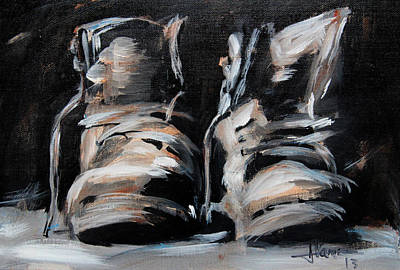 Painting - Work Boots by Jim Vance