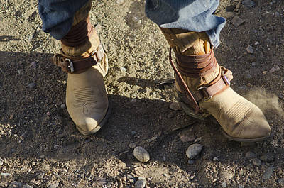Of Rodeo Events Photograph - Work Boots by Shelley Dennis