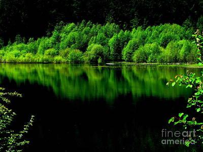 Work In Green Art Print by Greg Patzer