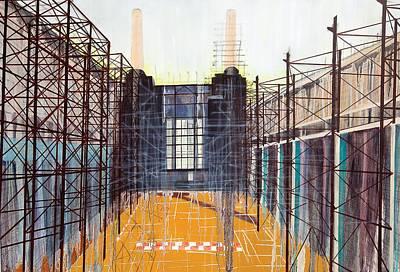Factory Painting - Work In Progress II by Luke M Walker