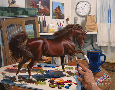 American Saddlebred Painting - Work In Progress Six by Jeanne Newton Schoborg