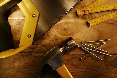 Home Improvement Photograph - Work Tools by Les Cunliffe