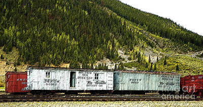 Digital Art - Work Train In Silverton by Tim Mulina