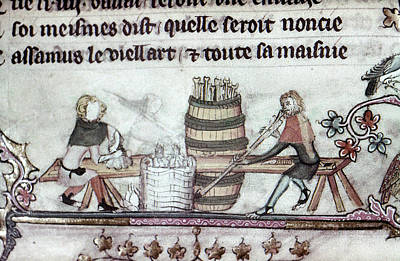 Painting - Workers, 14th Century by Granger