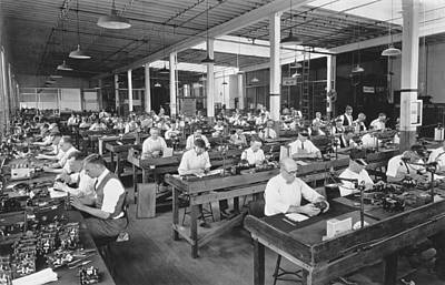 Factory Photograph - Workers Assembling Cine-kodaks by Underwood Archives