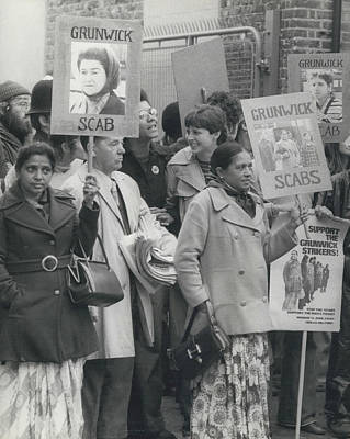 Workers At The Grunwick Laboratories Offered Council Houses Art Print by Retro Images Archive