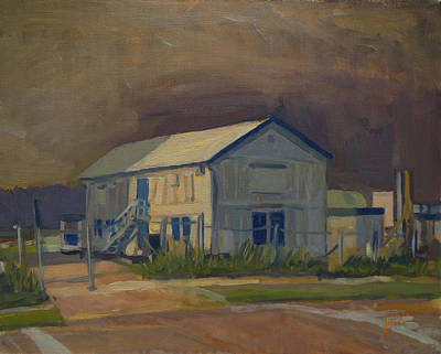 Briex Painting - Worker's Shed Just Before The Rain by Nop Briex
