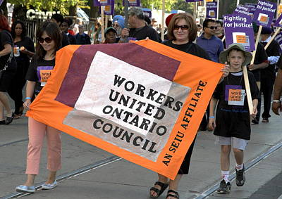 Photograph - Workers United Ontario Council by Valentino Visentini