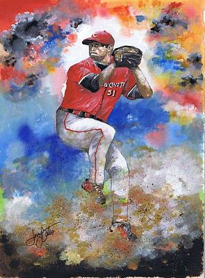 Painting - Workin The Mound by Jerry Bates