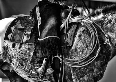 Working Cowboy Photograph - Working Cowhorse by Vadim Boytsov