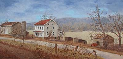 Nastalgia Painting - Working Farm by Tony Caviston