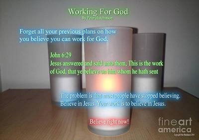 Working For God Art Print