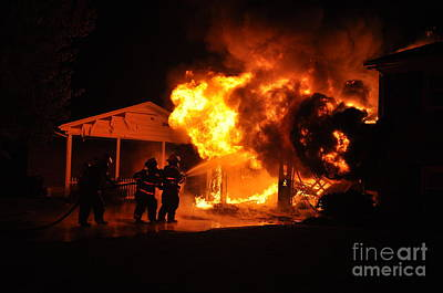 Photograph - Working Garage Fire by Steven Townsend