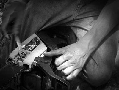 Photograph - Working Hands Bw by Christy Usilton