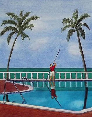 Painting - Working In Paradise by Cory Clifford