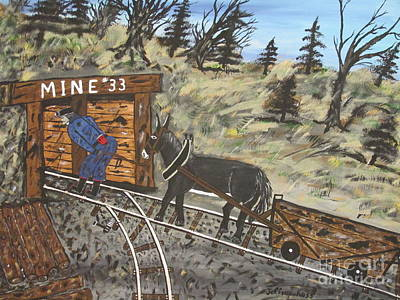 The Coal Mine Art Print by Jeffrey Koss