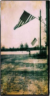 Patriotic Barn Photograph - Working Man Patriot by Dan Sproul