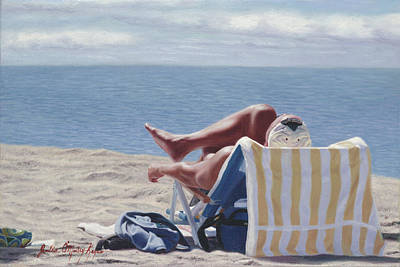 Beaches Painting - Working Mans Reward by Julia O'Malley-Keyes