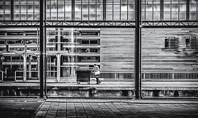 Photograph - Working Men by Yvon van der Wijk