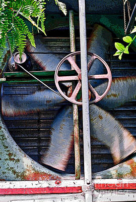 Photograph - Working Old Fan by Kristi Swift