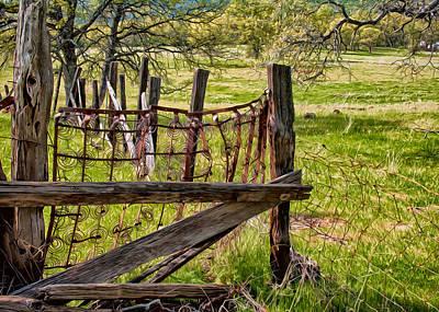 Digital Art - Working Ranch by Kathleen Bishop