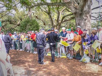 Augusta Golf Photograph - Working The Line by David Bearden