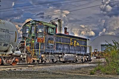 Photograph - Working Train In Hdr by Jonny D