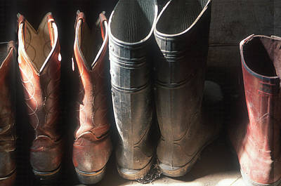 Working Cowboy Photograph - Workmans Boots by Harold E McCray