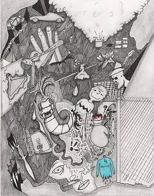 Surrealism Drawing - Works And Plays Well With Others by Dan Twyman