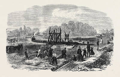 Works In The Bed Of The Regents Park Lake London 1868 Art Print