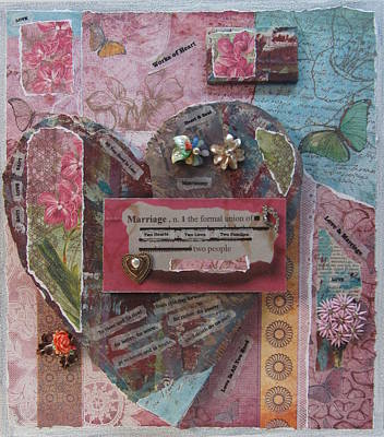 Mixed Media - Works Of Heart Matrimony by Anita Burgermeister
