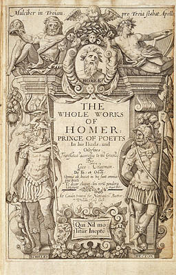 Homer Photograph - Works Of Homer by British Library