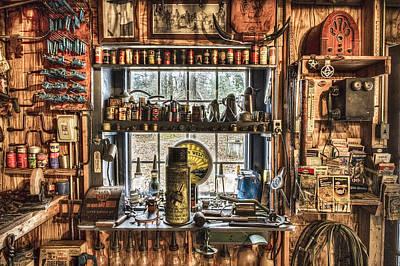 Toy Shop Photograph - Workshop by Debra and Dave Vanderlaan