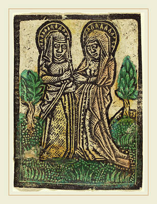 Workshop Of Master Of The Aachen Madonna, The Visitation Art Print