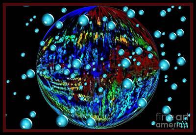 Wrap Digital Art - World And Planets by Marsha Heiken