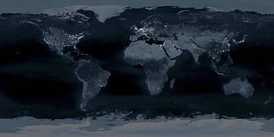 World At Night Art Print